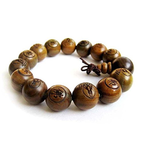 Tibetan Buddhist Green Sandalwood Beads Prayer Mala