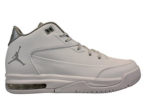Jordan Flight Origin 3 White/Metallic Silver-White (Big Kid) (5.5 M US) by Jordan
