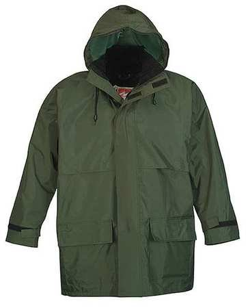 3-Piece Rainsuit with Hood, Green, M