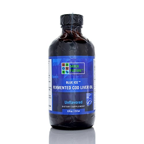 Green Pastures Blue Ice Fermented Cod Liver Oil (Non-flavored 8 fl (Blue Green Links)
