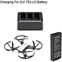Owill 3 in 1 Multi Smart Battery Charger Hub Batteries Charging Cradle for DJI Tello (Black)