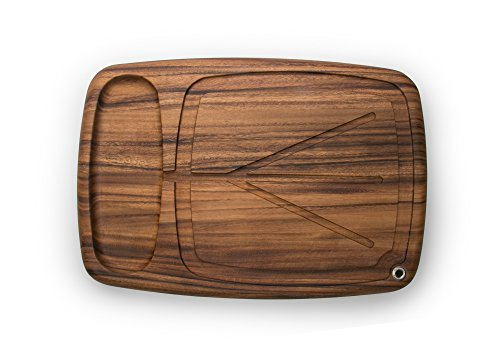 Ironwood Gourmet 28103 Kansas City Carving Board with Juice Channels, 22 x 15 x 2.5 inches, Brown (Cutting Board With Well)