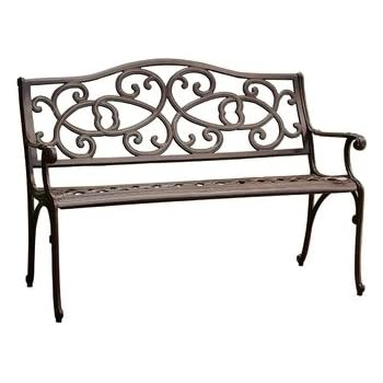 Amazon Com Best Selling Vine Cast Aluminum Outdoor Bench