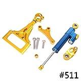 GZYF CNC Steering Damper Stabilizer Bracket Kit For KAWASAKI Z1000 Z750 2003-2009
