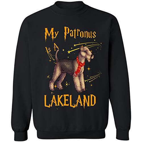 My Patronus is a Lakeland Terrier Crewneck Sweatshirt (Black - M)]()