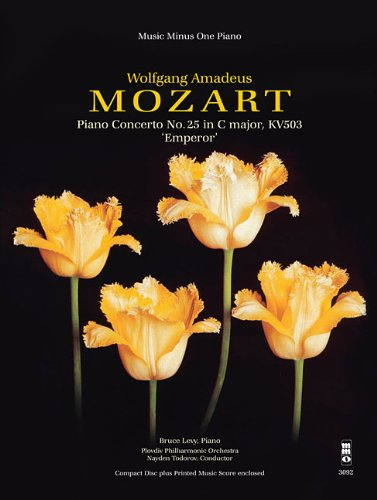 Mozart - Piano Concerto No. 25 in C Major, KV503 'Olympian' or 'Emperor': Music Minus One Piano Deluxe 2-CD Set (Music Minus One (Deluxe Percussion Set)