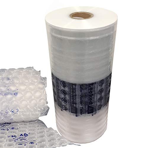 (LUXXXE 2 Rolls Locked Air Inflatable Packaging Air Film Air Pillows Air Bubble Air Cushion Film for Packing Packaging Shipping (2-Roll Bubble Film))