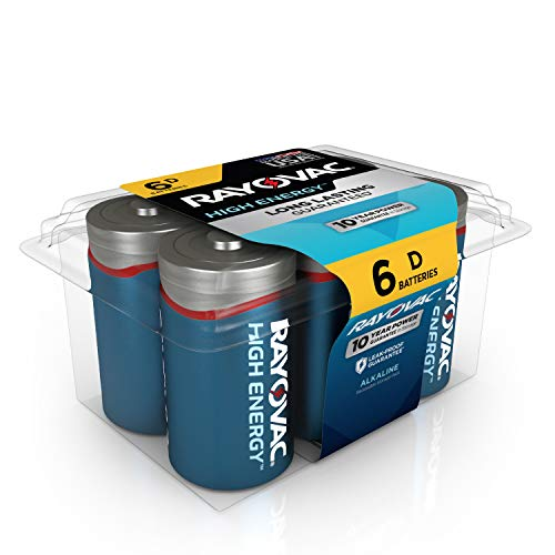 Rayovac D Batteries, Alkaline D Cell Batteries (6 Battery Count)