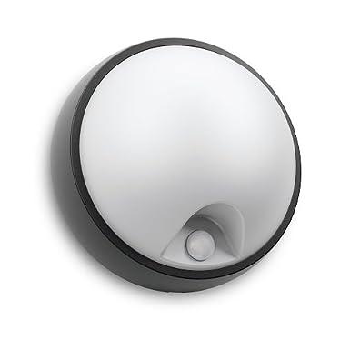 Philips myGarden LED Wandaussenleuchte Eagle, 3.5W, Bewegungsmelder, weiß/schwarz, 173183016 [Energieklasse A] weiß/schwarz 915004494001