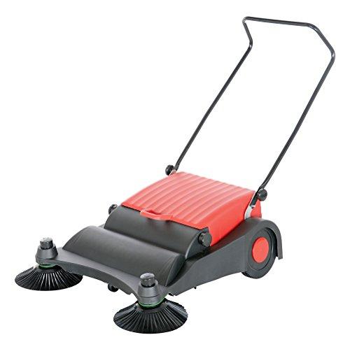 Vestil JAN-LG Manual Push Floor Sweeper with Steel Handle, 32-1/2'' Head Width, 30'' Overall length, Black and Yellow by Vestil (Image #1)