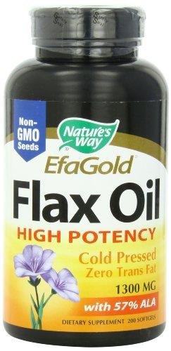 Les 1300mg Way huile de lin de Nature, 200 Softgels