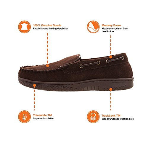 Suede Slip outdoor Moccasin Indoor Memory Heat Edge Mens Slipper On Venetian Shoe Brown Foam 8ngxgqBIwU
