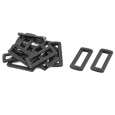 Dealmux Sac à dos Ceinture réglable Fermeture Tri Glide Boucles 38mm Largeur du Bracelet 15pcs Noir