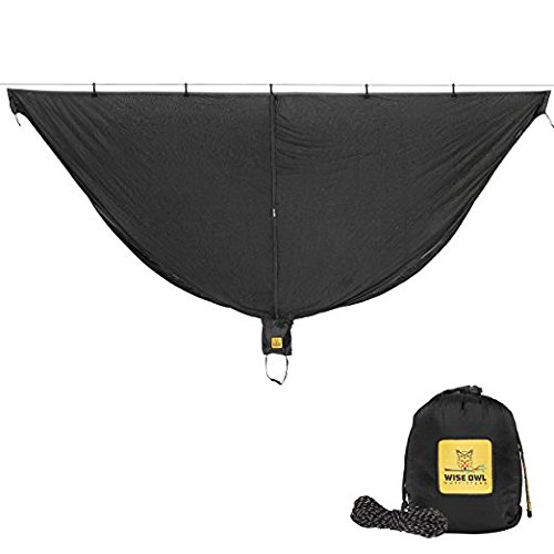 Hammock Bug Net - SnugNet by Wise Owl Outfitters - The Perfect Mesh Netting Keeps No-See-Ums, Mosquitos and Insects Out - Black
