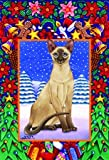 Cheap Siamese Cat Tomoyo Pitcher Christmas Garden Flag 28″x40″