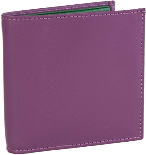 Leather 40 Mens Colori Colori Mens Wallet Green Purple 40 Leather 4txPpPqw5n