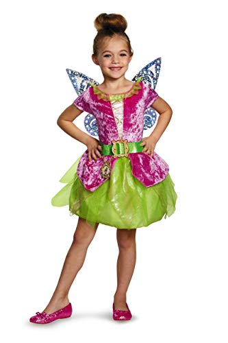 Disney's The Pirate Fairy Pirate Tinkerbell Classic Girls Costume, Large/10-12 -