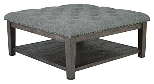(Signature Design by Ashley T831-21 Borlofield Ottoman Cocktail Table, Linen)