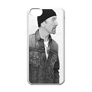 iPhone 5c Cell Phone Case White U2 KQV Durable Back Case