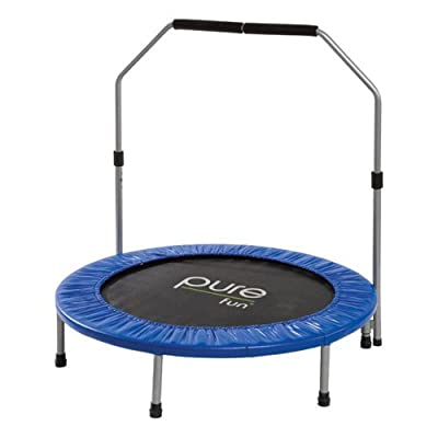 Pure Fun 40 in. Mini Trampoline with Hand Rail by Pure Global Brands Inc