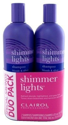Clairol Shimmer Lights Shampoo 2 bottles of 16 Ounce by Clairol
