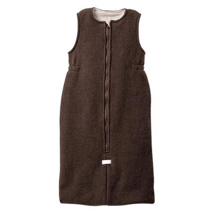 disana - Saco de dormir, de lana esquilada orgánica marrón chocolate Talla:60 cm