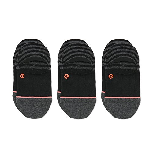 mon Invisible Liner Socks (1 & 3 Packs), Black, Medium ()