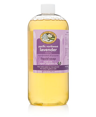 Oregon Soap Company - Liquid Castile Soap, Certified Organic and Natural Ingredients, Concentrated Multipurpose Lavender Castile Soap (32 oz, Pacific Northwest Lavender)