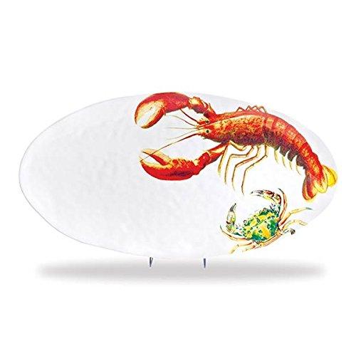 Melamine Oval Serving Platter (Michel Design Works Melamine Oval Serving Platter, Lobster)