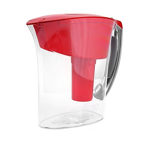 Brita 6-Cup Amalfi Pitcher up to 40 gallons of water (Red) ()
