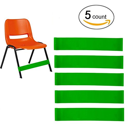 Sakolla (5 Count) Natural Latex Stretch Foot Bands Workout ADHD ADD SPD Autism Sensory Needs & Stretch Foot Band for Chairs by Solace Helps Improve Focus in The Classroom Rehab or Physical Therapy by Sakolla