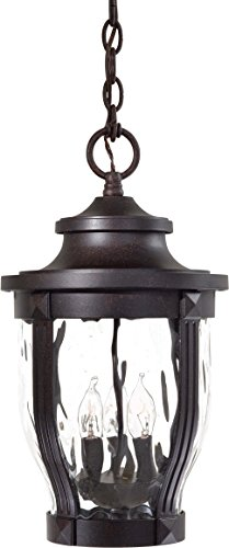 Cast Aluminum Ceiling Fixture - Minka Lavery Outdoor Pendant Lighting 8764-166, Merrimack Cast Aluminum Ceiling Lighting for Patio, 180 Watts, Bronze