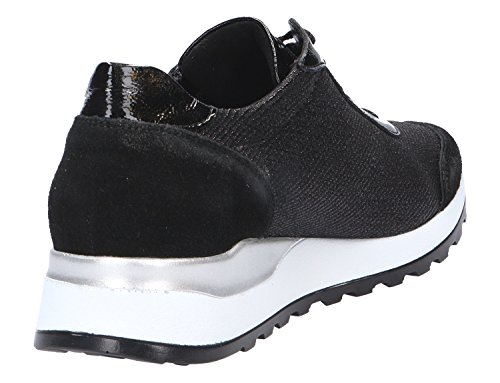 para Negro Waldl de Mujer Hiroko Tela de Cordones Zapatos ufer 0q0Fnz