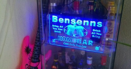 p-tm-b Name Personalized Custom Home Bar Beer Neon Light Sign Blue 16'' x 12'' by AdvPro Custom (Image #4)