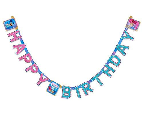 Shimmer and Shine Happy Birthday Banner|Party|Decorations|Celebrattion -