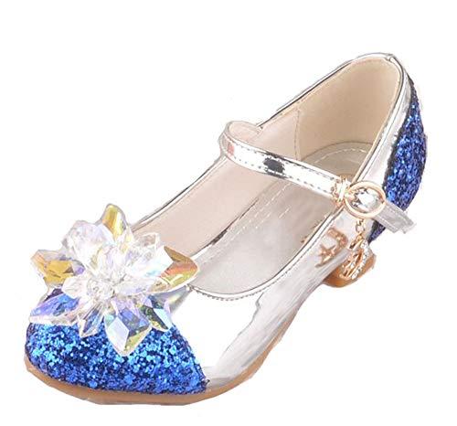 Fancyww Girls Wedding Cosplay Princess Shoes Sparkling,Crystal Low