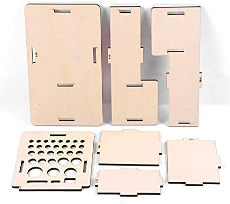 HCTX Las Herramientas de Modelado Cepillo de Madera de Almacenamiento Estudio Estante Expositor Material de Bellas Artes de Almacenamiento,Burlywood