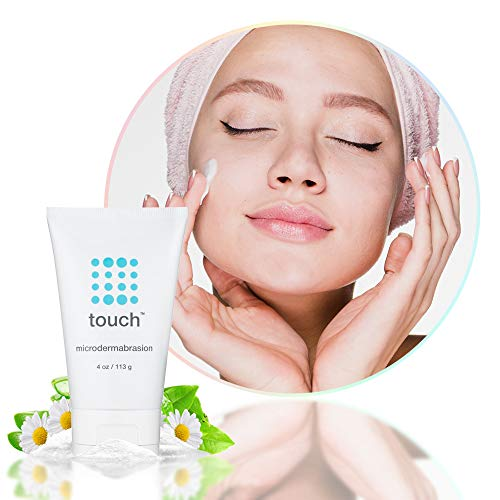Microdermabrasion Facial Scrub & Face Exfoliator - Exfoliating Face Scrub Cream With Same Crystals Dermatologist Use - Large 4 Ounce Size - Best For Anti-Aging, Acne Scars, Dullness, Wrinkles, Pores by TOUCH (Image #2)
