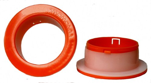 1 Pair of Red Color Plastic Hand Saver for Hand Stretch Wrap Film
