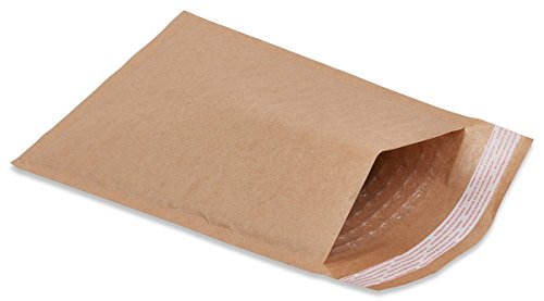 25 Pack Kraft padded envelopes 10.5 x 15 Bubble Mailers 10.5x15 Natural bubble envelopes Peal and Seal. Brown cushion envelopes for shipping, mailing, packing. Laminated kraft paper in bulk, wholesale ()