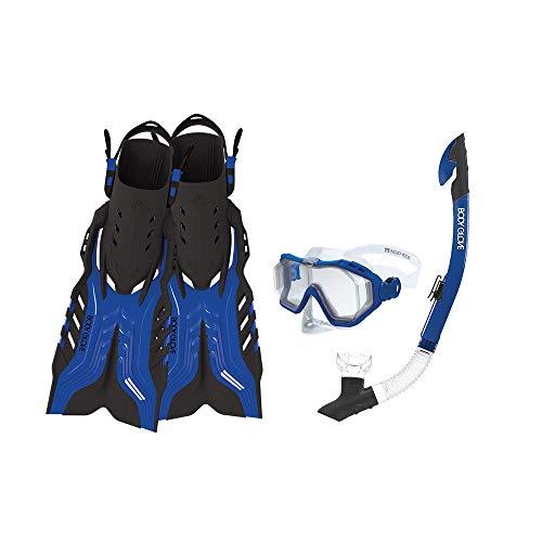 Body Glove Predator Purge Size Large Aquatic Mask Snorkel and Fins Set, Blue (6 Pack) ()