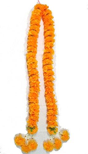Big Size Artificial Yellow Marigold Garland /Size: 1m , By Jakapan.
