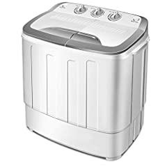 Description: This is our extremely portable and versatile twin tub travel washing machine.This washer is ideal for caravans, student flats and small accommodation where space is limited. The two tubs, one for washing and one for spin drying w...
