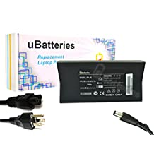 UBatteries Laptop Slim Power Adapter Charger Dell Latitude X1 9T215 310-2862 7W104 C440H C2894 09T215 PA-10 PA-1900-04 NADP-90KB - 130W, 19.5V
