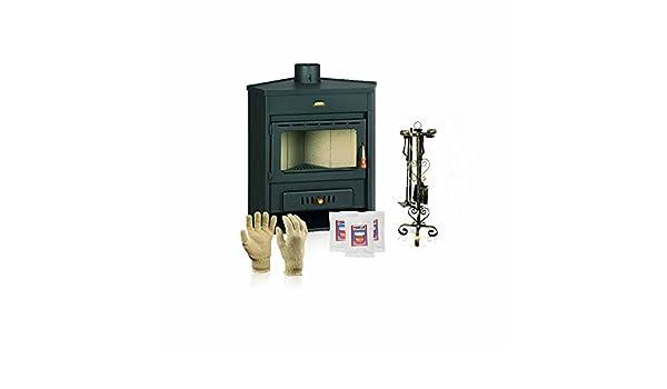 Estufa de leña Prity, Modelo AM, salida de calor 12 kW, en la esquina colocación: Amazon.es: Bricolaje y herramientas