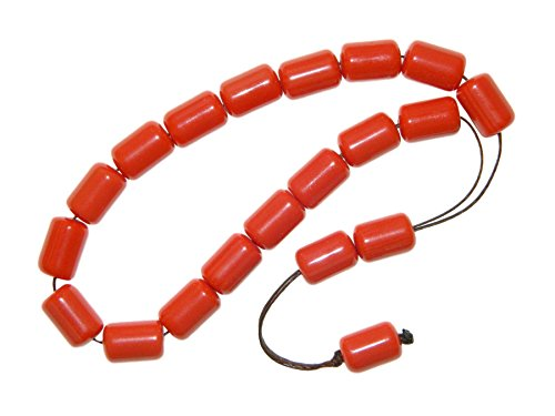 E1-0120 - Beautiful Polyester Loose String Greek Komboloi Prayer Worry Beads Handmade ()