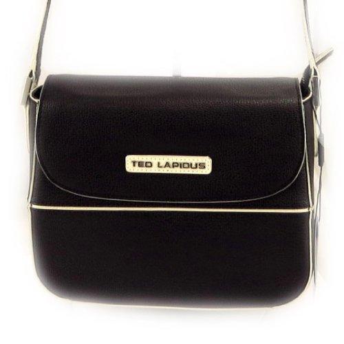 Ted Lapidus [L2587] - Sac cuir 'Ted lapidus' noir beige