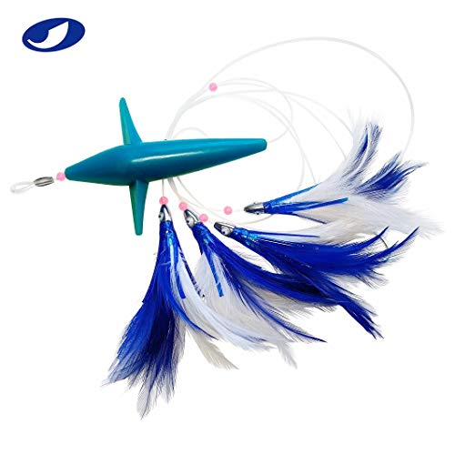 - OCEAN CAT Trolling Fishing Lures Daisy Chain Bird Feather Teaser for Fishing with Rigged Hook 7/0 for Mahi, Tuna, Wahoo and More