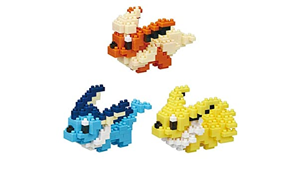 Hitokage and Mewtwo 3 Sets Nanoblocks Pikachu Japan Import Adjustable Pokemon Characters