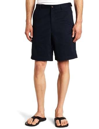 Haggar Mens Classic Plain Front Short,Navy,36